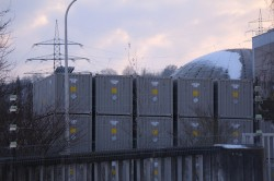 Obrigheim: Atommüll im Freien Foto: IAEO