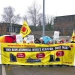 160111 Demo der Bürgerinitiativen zum Besuch der KFK